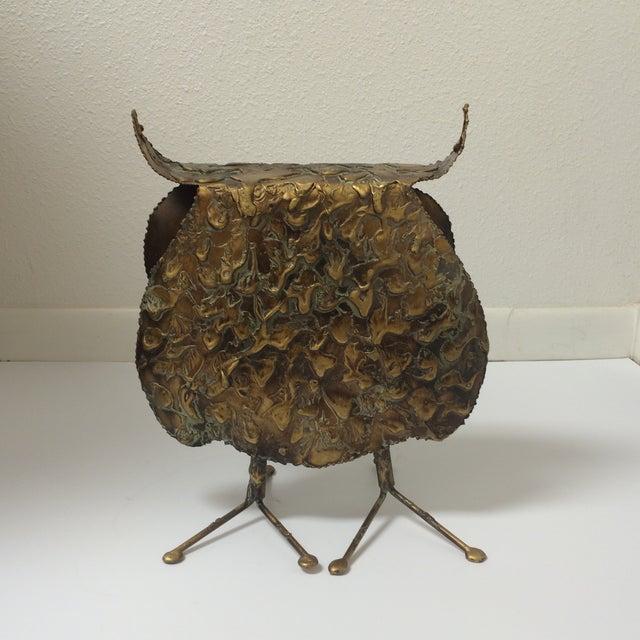 Curtis Jere Mid-Century Brutalist Owl Sculpture - Image 6 of 7