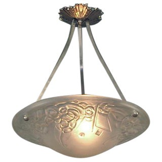 French Art Deco Lighting Bowl by Loti, of Nancy