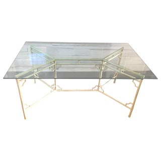 Aluminum Meadowcraft Chair Glass Top Dining Table