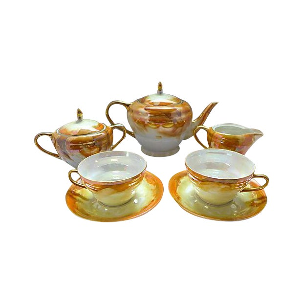 Lusterware Tea for Two Set - Image 1 of 8