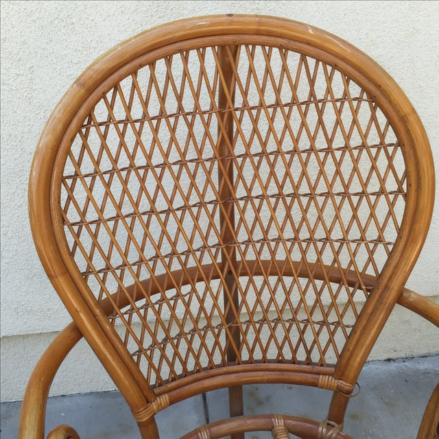 Vintage Rattan Bamboo Chair - Image 6 of 11