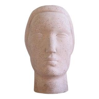 1930s Oronzio Maldarelli for Robinson Galleries Art Deco Head Sculpture