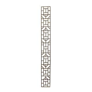 Narrow Long Rectangular Plain Wood Geometric Pattern Wall Panel