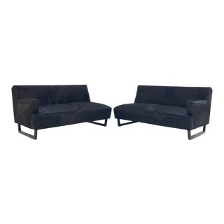 Forsyth One of a Kind 1950s Sectional Sofa in Natural Black Brazilian Cowhide