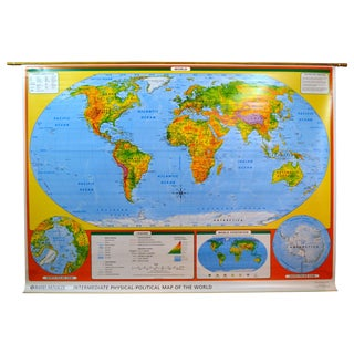 Hanging Classroom Map of the World