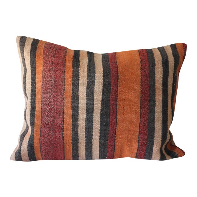 Vintage Boho Turkish Kilim Pillow - Image 1 of 4