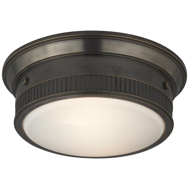Image of Bronze Visual Comfort Flush Mount