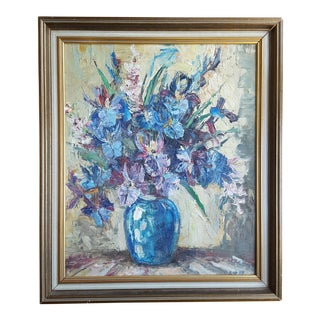 Blue Still Life by G.W. Hill Painting