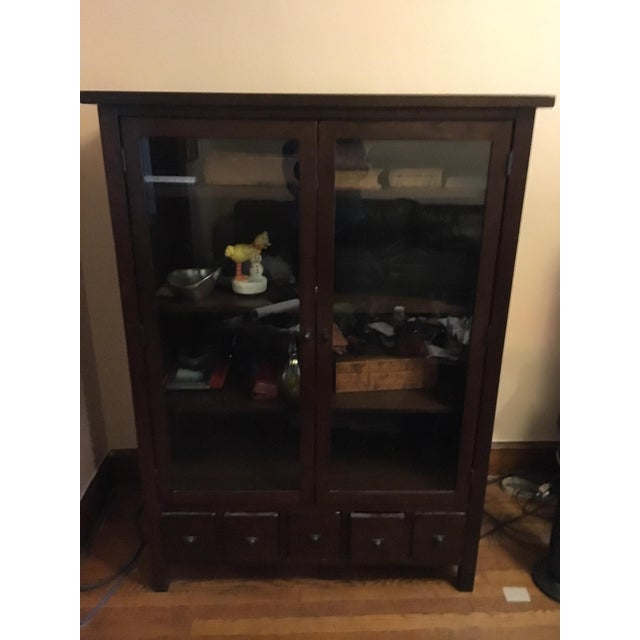Image of Pottery Barn Stinson Glass Cabinet