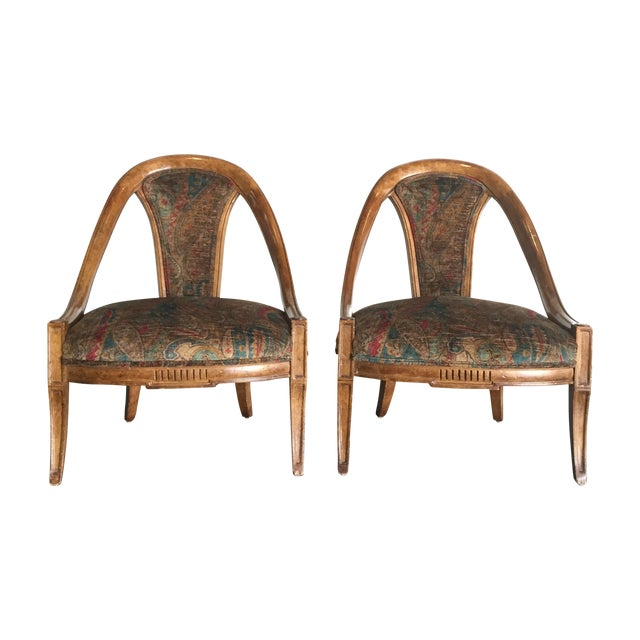 Vintage Bohemian Occasional Chairs - A Pair - Image 1 of 7