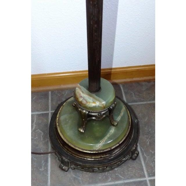 Vintage Brass Amp Marble Floor Lamp Chairish