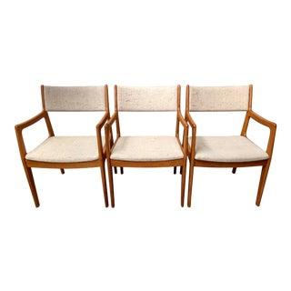 Danish Modern Teak Midcentury Dining / Office Chairs, Set of 3