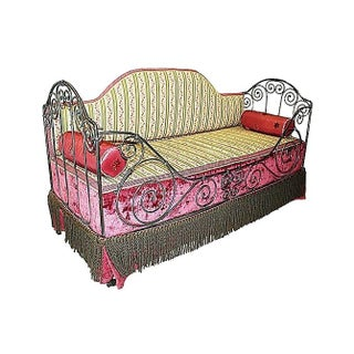 1880s French Antique Iron Daybed
