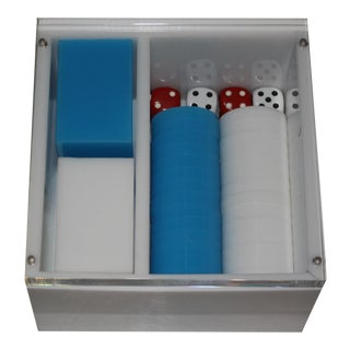 Jonathan Adler Parlor Game Box with Lucite Lid