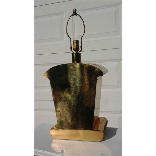 Brass Art Deco Chapman Lamp - Image 2 of 6