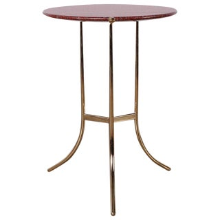 Cedric Hartman Table in Polished Brass and Rosso Granite