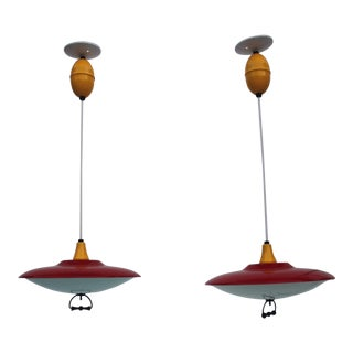 Gearld Thurston For Lightolier Pendant Lights - A Pair