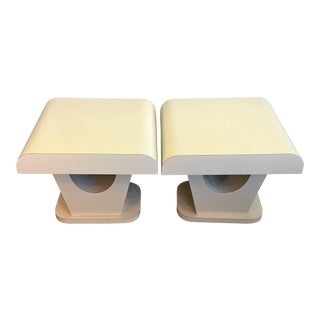 Custom Made Formica End Tables - A Pair