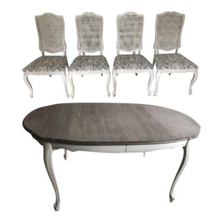French Provincial Table and 4 Chair Set