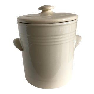 Futz & Floyd White Crockery Storage Vessel