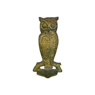 Solid Brass Owl Doorstop