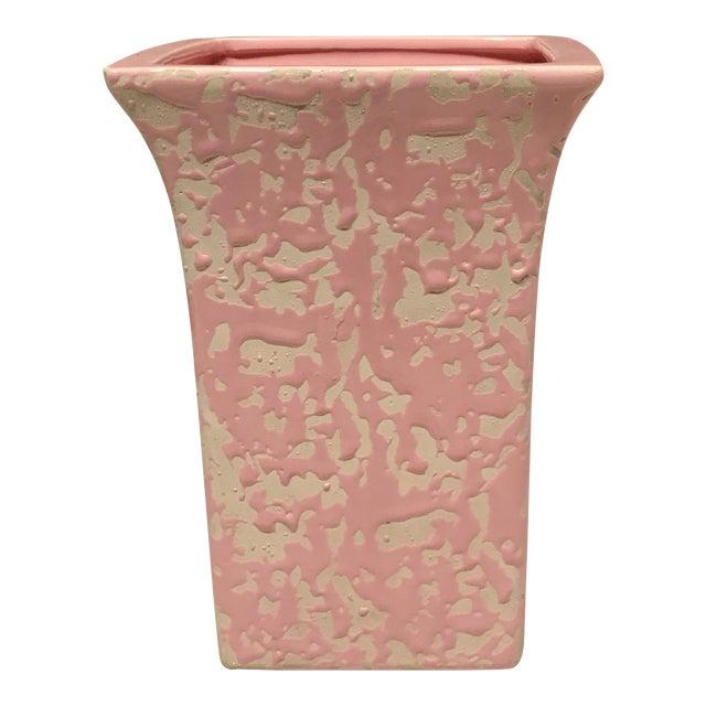 McCoy Pink & Cream Brocade Vase - Image 1 of 5