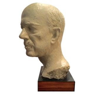 Vintage Bust of a Man Sculpture