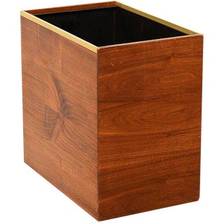 Mid-Century Modern Qualiton Walnut Box