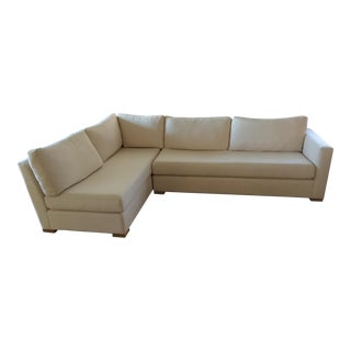 Custom Woven Ivory Natural Sectional Sofa