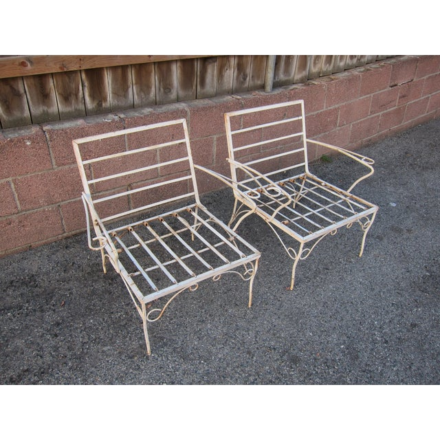 White Mid-Century Patio Chairs - A Pair - Image 3 of 3