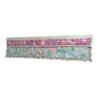 Antique Chinese Needlework Panel