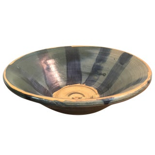 Blue and Gold Ceramic Bowl