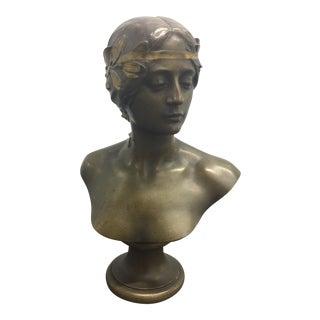 Antique Bareau Bronze Bust l'Histoire