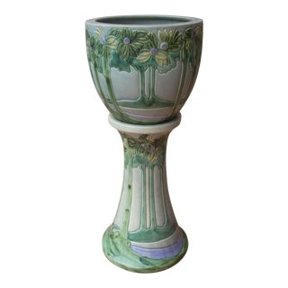 Roseville Vista Jardiniere & Pedestal- Set of 2