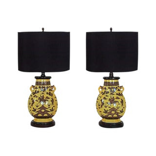 Paul Hanson Urn Lamps - A Pair