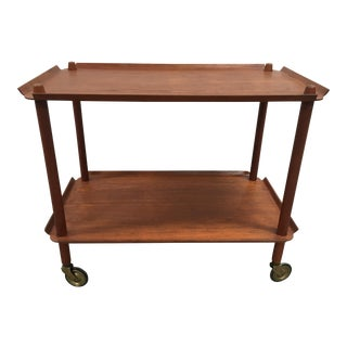 Mid Century Danish Rolling Bar Cart