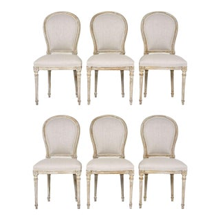 Antique French Louis XVI Style Dining Chairs - Set of 6