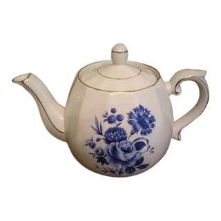 Vintage Ellgreave English Floral Teapot