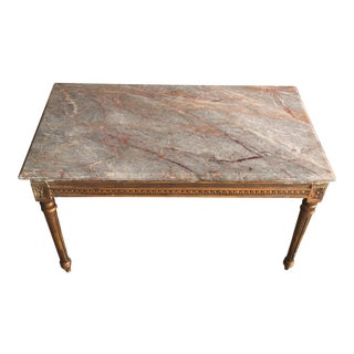 Marble Top & Gilt Neoclassical Coffee Table