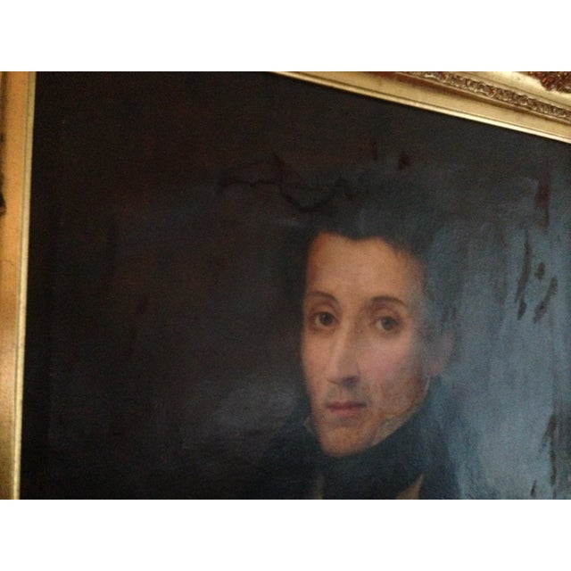 1800s Oil Portrait Painting With Gold Frame - Image 3 of 8