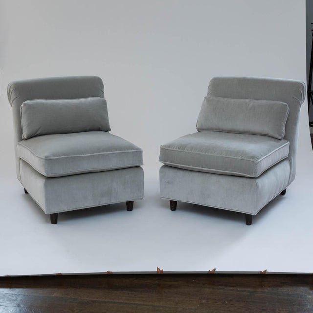 Mid-Century Slipper Chairs - A Pair - Image 10 of 10
