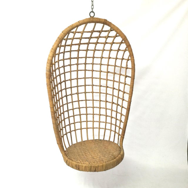 1960s Rohe Cane Hanging Chair - Image 2 of 5
