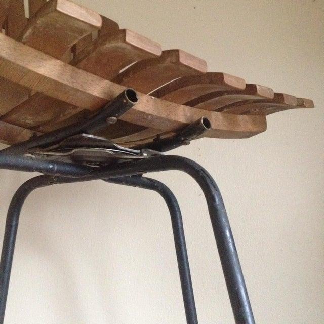 Mid Century Umanoff Style Wooden Slat Stool - Image 8 of 10