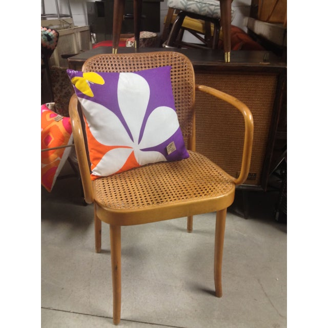 Thonet Mid-Century Bentwood and Cane Armchair - Image 8 of 8