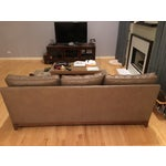 Image of Ethan Allen Avanti Brown Leather Sofa