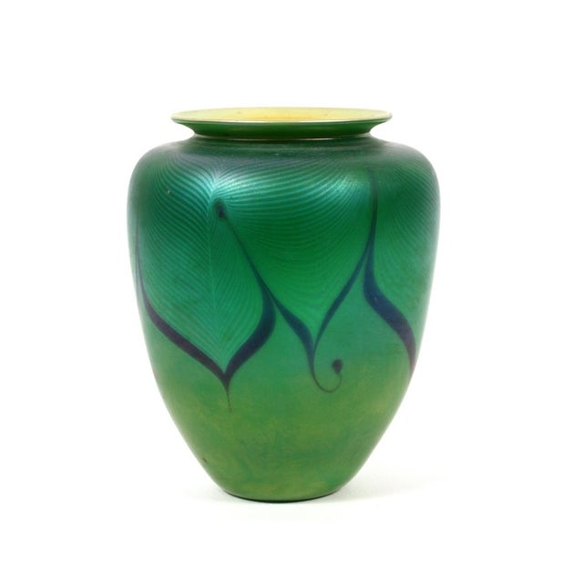 Richard Satava Green Art Glass Vase, C. 1979 - Image 2 of 9