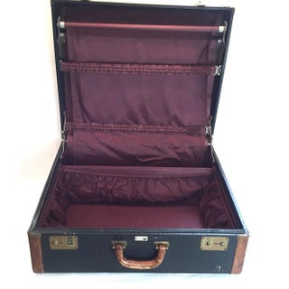 Vintage Suitcase with Burgundy Interior