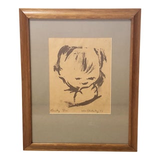 Original 1950 Signed William Blakesley Lithograph