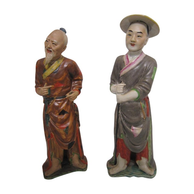 Image of Chinese Figures - A Pair