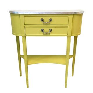 Silver Leaf Yellow Console Table